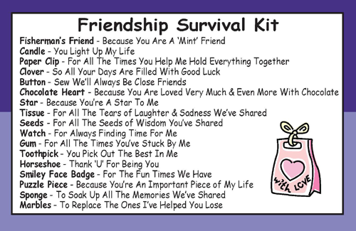 Friendship Survival Kit In A Can